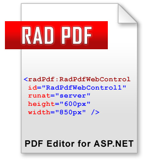 RAD PDF - PDF Editor for ASP.NET